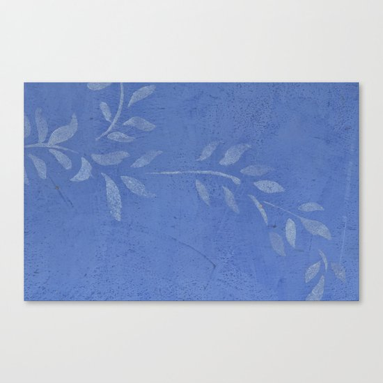 Blue Ivy Vine - Pretty - Rustic - Floral Canvas Print