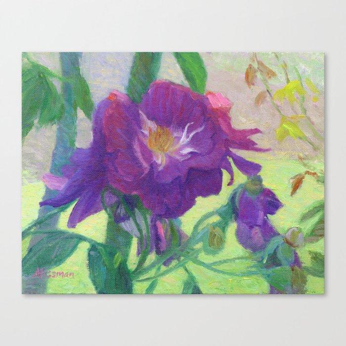 Purple Roses Canvas Print