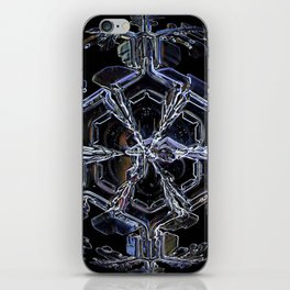 Water as a Crystal, pattern snowflake art on leggings and more! iPhone Skin