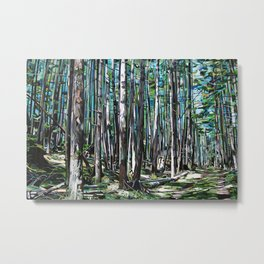 Galiano Forest Pah Metal Print
