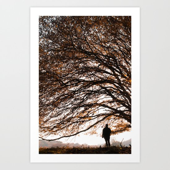 Under the safe arms of the tree Art Print