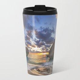 Kalamitsi beach at sunset long exposure Travel Mug