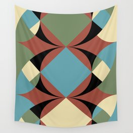 A lot of confusion and a still blue element. A Square, at the center of the composition. Wall Tapestry