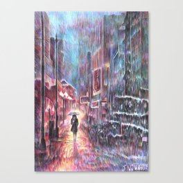 Take a walk Canvas Print