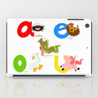 spanish iPad Cases featuring Vowels (spanish) by Alapapaju