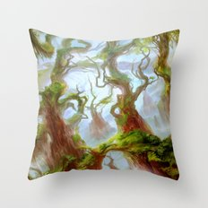 Wooded Foothills Throw Pillow