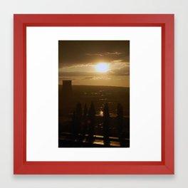 Dresden Sunset Framed Art Print