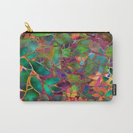 Floral Abstract Stained Glass G176 Carry-All Pouch