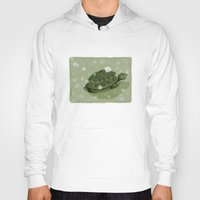 turtle Hoodies featuring Turtle by David Owen Breeding