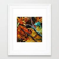 chameleon Framed Art Prints featuring Chameleon by Geni