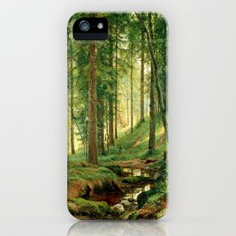 """Ivan Shishkin """"Stream in the Forest (On the Hillside)"""" iPhone Case"""