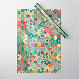 Gilt & Glory - Colorful Moroccan Mosaic Wrapping Paper