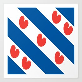 flag of frisia Art Print