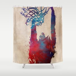 basketball player #basketball #sport Shower Curtain