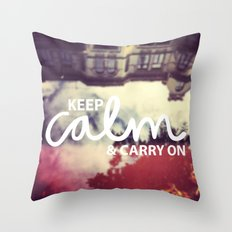 Keep Calm & Carry On Throw Pillow