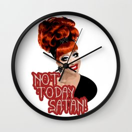'Not Today Satan!' Bianca Del Rio, RuPaul's Drag Race Queen Wall Clock