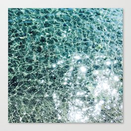 Seaside marble Canvas Print