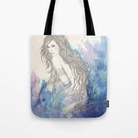 pisces Tote Bags featuring Pisces by katiwo