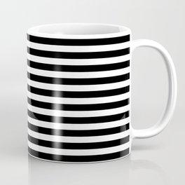 Striped Black and White Coffee Mug