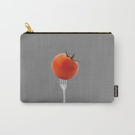 fork with tomato - grey Carry-All Pouch