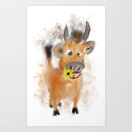 little bull Art Print