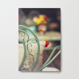 The chair and the pillow Metal Print