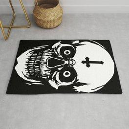 Most Ugly Satanic Skull Rug