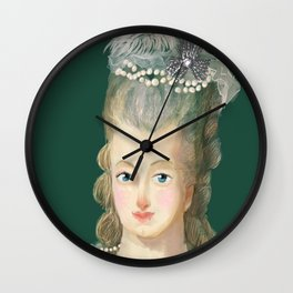 Marie Antoinette portrait Wall Clock