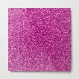 Shiny Glitter, Sparkling Glitter Glow - Pink Metal Print