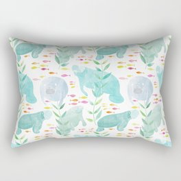 Lazy Manatees Rectangular Pillow
