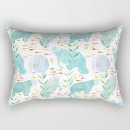 Lazy Manatees Rectangular Pillow
