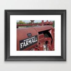 Farmall Equipment Framed Art Print