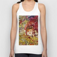 superheros Tank Tops featuring BoooM by MelissaMoffatCollage