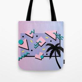 Memphis Pattern 25 - Miami Vice / 80s Retro / Palm Tree Tote Bag