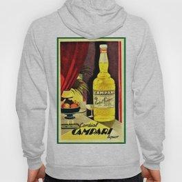 Vintage 1930 Cordial Campari Bitters Aperitif Advertisement Poster Hoody