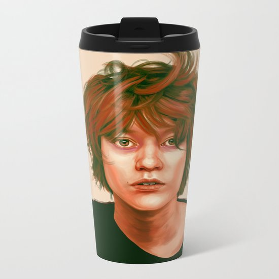 Take a look in the mirror Metal Travel Mug