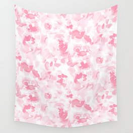 Abstract Flora Millennial Pink Wall Tapestry