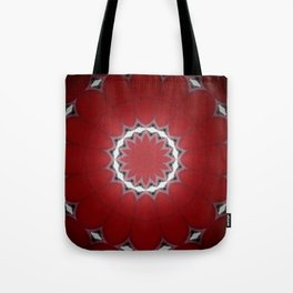 Red Flower with Black and White Accents Tote Bag