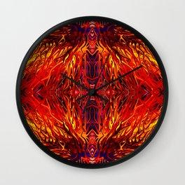 Molten Firegrass II by Chris Sparks Wall Clock