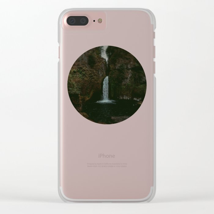 Wahclella Falls x Oregon Waterfall Clear iPhone Case