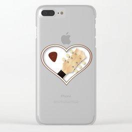 Love Guitar Clear iPhone Case
