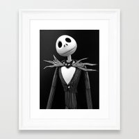 jack skellington Framed Art Prints featuring Jack Skellington by Brigitta