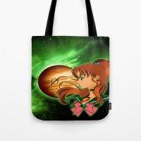 sailor jupiter Tote Bags featuring Sailor Jupiter by Maren Lex