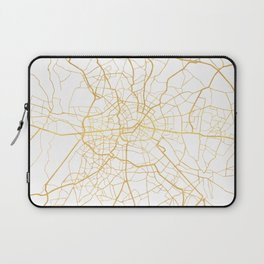 BERLIN GERMANY CITY STREET MAP ART Laptop Sleeve