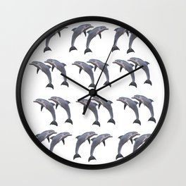 Bottle-nose Dolphins Wall Clock