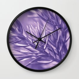 Ultra Violet Spruce Tree Pattern| Trendy color of year 2018 Wall Clock