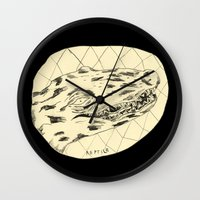 crocodile Wall Clocks featuring Crocodile by Mr. JJ
