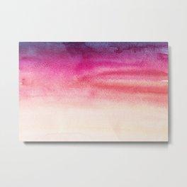 Sky Watercolor Texture Abstract 415 Metal Print