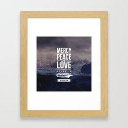 Mercy Peace Love Framed Art Print