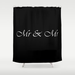 Mr & Mr Monogram Cursive Shower Curtain
